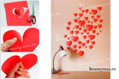 Подвесные сердечки из бумаги своими руками - Nexttell-ug.ru