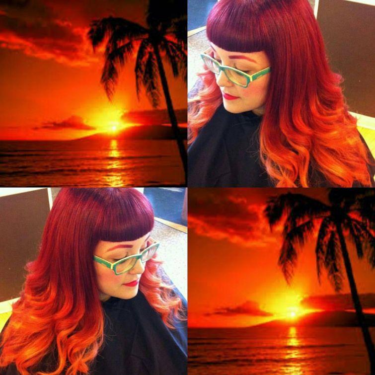 Волосы цвета заката – новый красивый тренд в окрашивании волос