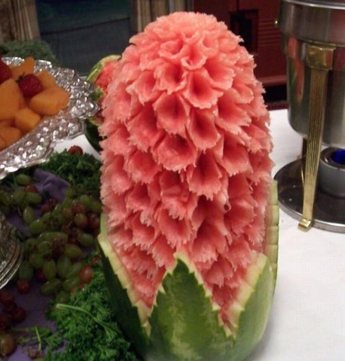Искусство резьбы по арбузу еда, своими руками, сделай сам