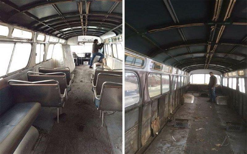 За три года девушка превратила старенький автобус в прекрасный дом на колесах автобус, дизайн, дом, идея, проект, сделай сам, фото