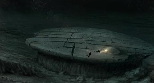 Балтийская аномалия И вновь перед нами возникает теория контактов с внеземными цивилизациями. В 2011 году на дне Балтийского моря была найдена окаменелость, которая, по некоторым предположениям, могла быть остатками древнего космического корабля, разбившегося на нашей планете.Полное изображение аномалии сделанное художником Hauke Vagt-ом