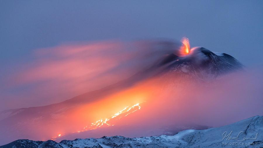 Этна – огонь и лед вулкан, фото