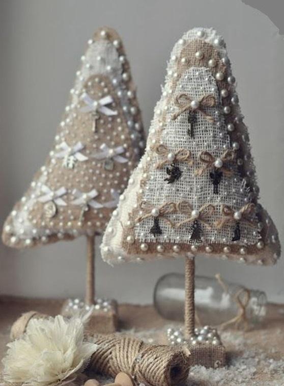 Новогодние вещицы из джута и мешковины: 35 замечательных идей