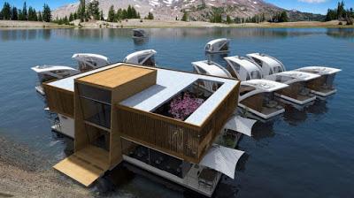 Самый романтичный отель в мире: автономно плавающие по озеру номера и полное уединение