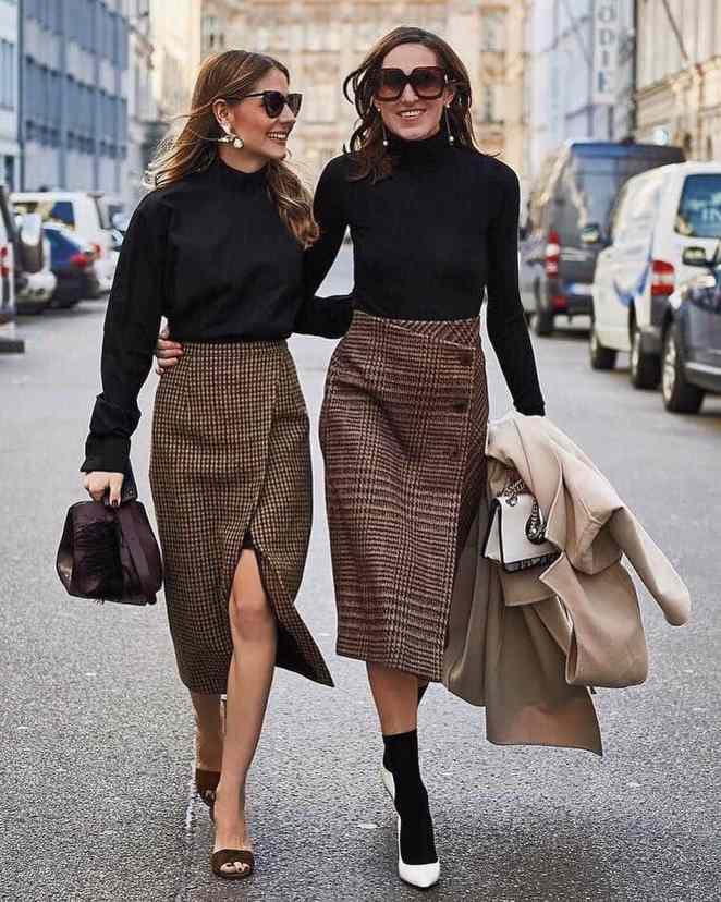 10 стильных осенних образов с юбками из аккаунтов модных блогеров