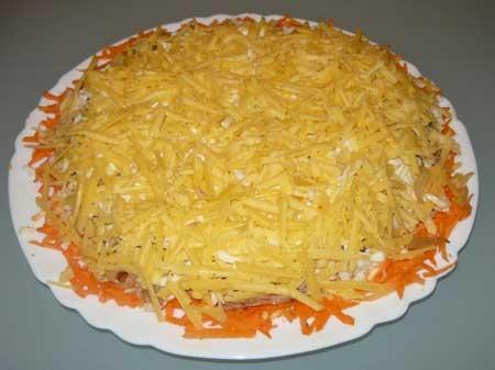 Салат с куриной грудкой слоями с фото