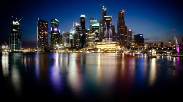 Города такие красивые в сумерках