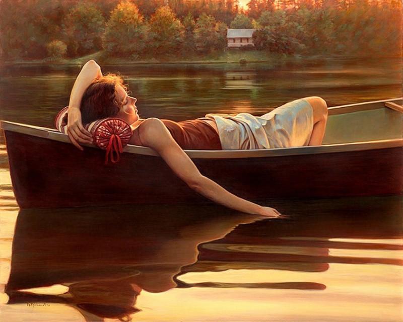 Летние мотивы в картинах Даниэль Ричард лето, художница