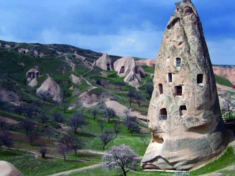 Домики в пещерах, Каппадокия, Турция