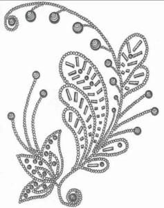 Бисерный узор для вышивания