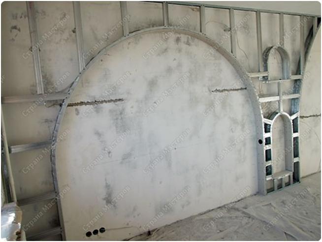 Арки в стене из гипсокартона своими руками