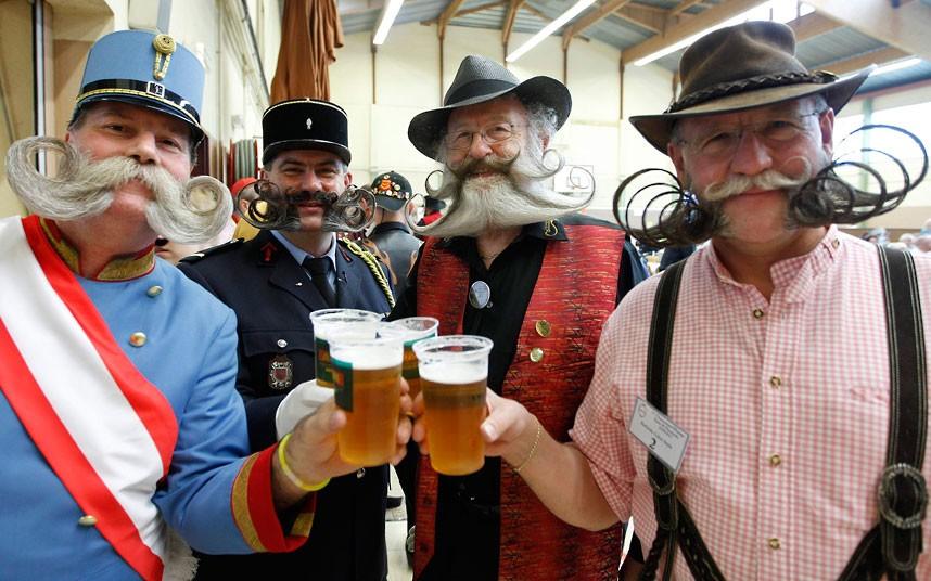 Beard and Moustache Championships 10 Конкурс усов и бород во Франции