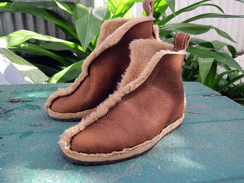 Шьем обувь из старой дубленки : мастер-класс