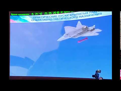 Su-57 fighter launch a advanced cruise missiles in Syria