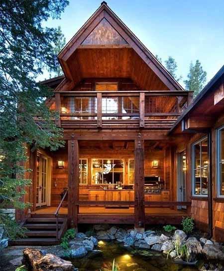 Интерьер деревянного дома самое