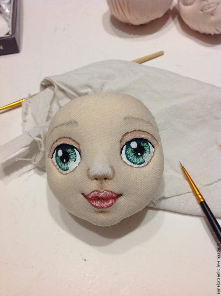 Как нарисовать глаза кукле своими руками мастер класс