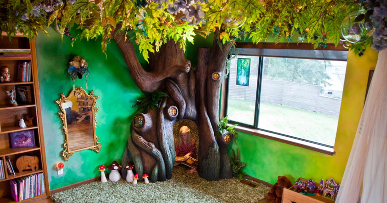Отец превратил спальню дочери в волшебный домик на дереве
