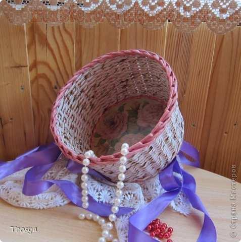 Мастер-класс по плетению из газет: Жженый меланж