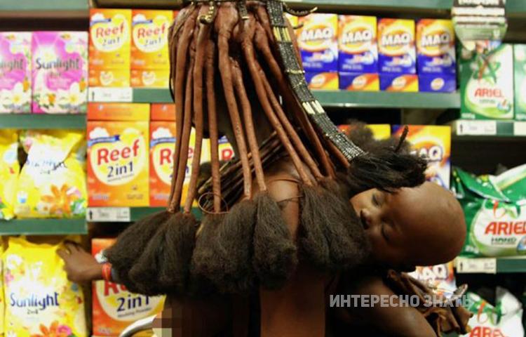 Думаете, кадр из кино? Нет, это обычный африканский супермаркет