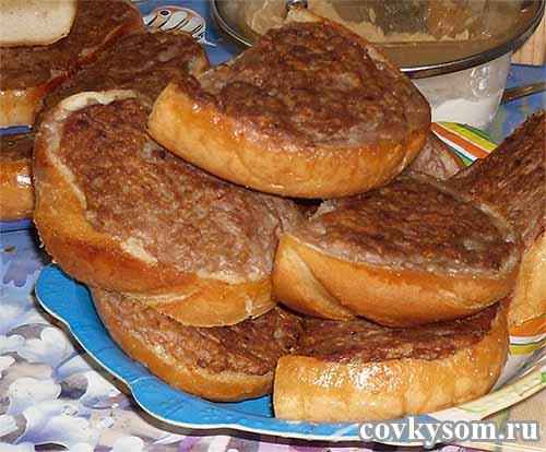 Бутерброды с котлетным фаршем