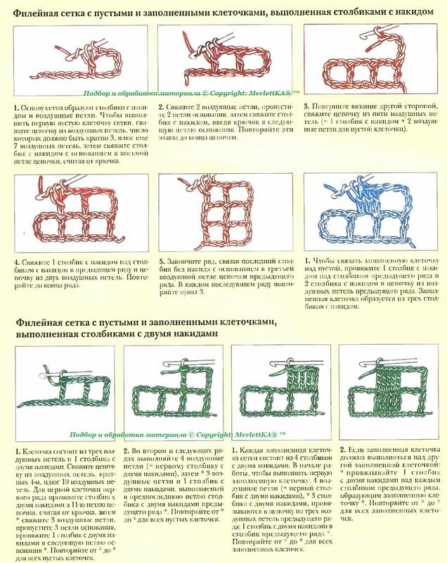 ВЯЖЕМ. Филейная техника вязания крючком