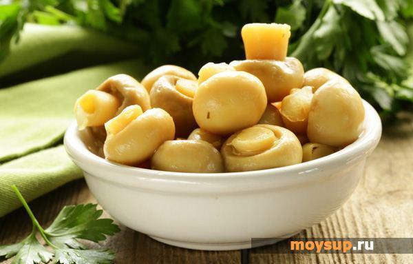 Рецепты простых и быстрых салатов из консервированных шампиньонов