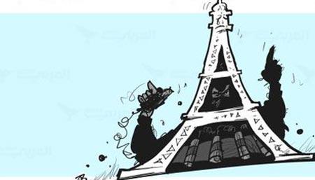 Al Jazeera:  Карикатуры арабских художников на теракты в Париже (ФОТОГАЛЕРЕЯ)