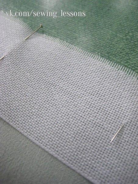 ИГОЛКА С НИТОЧКОЙ. Оригинальный способ узкой подгибки на лёгкой ткани