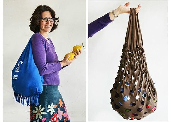 Как сделать сумку из трикотажной майки: 2 простых мастер-класса