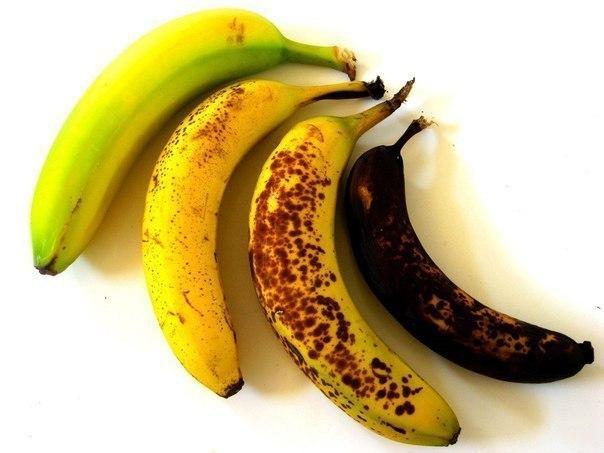Степень зрелости банана и его свойства