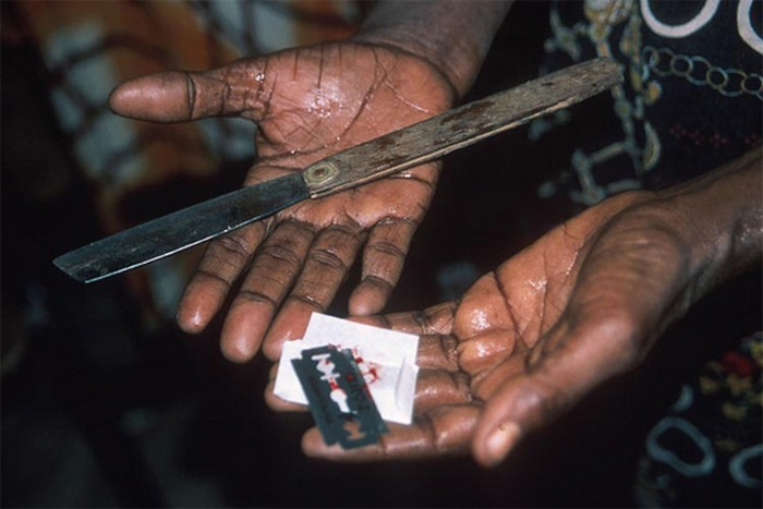 Scary tools for female circumcision.