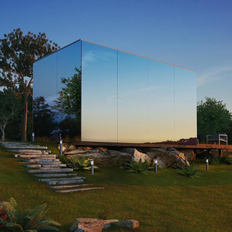 Этот великолепный стеклянный домик можно установить в любом месте всего за 8 часов