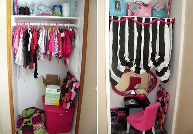 12. Детские вещи можно спрятать за занавеской вещь, дом, хранение