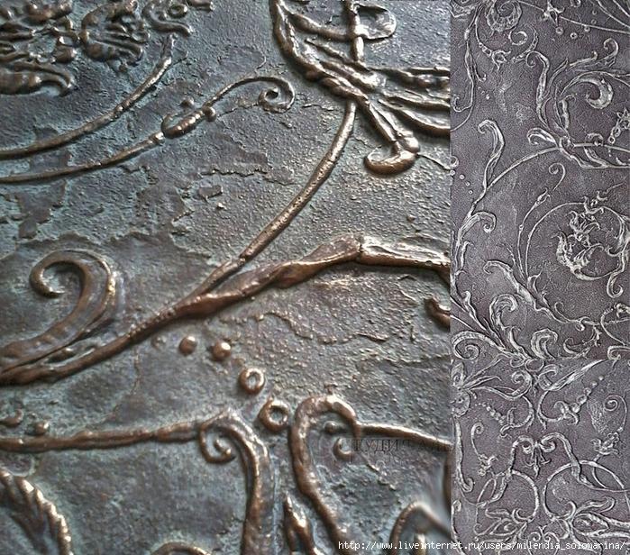 Идея оформления стен фрескорельефом. Ч.1. Лепка по шаблону
