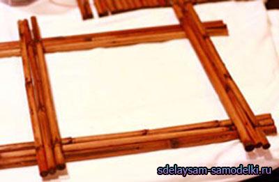 Рамка из палочек для суши
