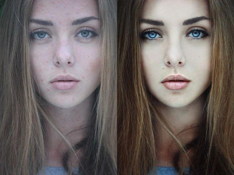 крутой фотошоп, до и после фотошопа