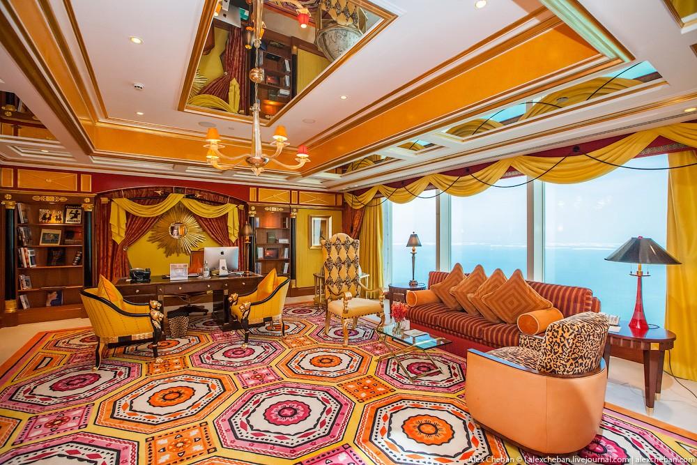 BurjAlArab47 Золото для шейхов и олигархов: самый дорогой номер в семизвездочном отеле Burj Al Arab