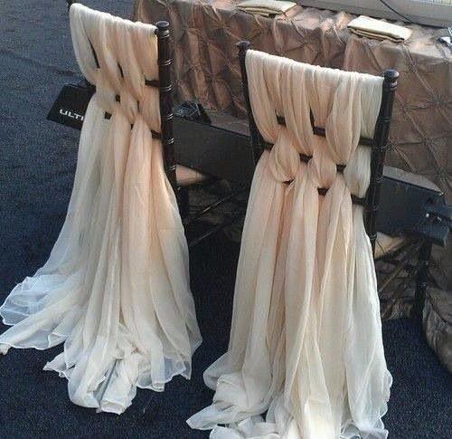 Приукрасим стулья шторами!