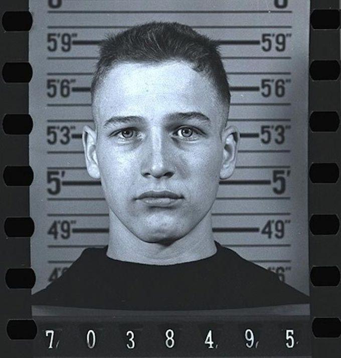 18-летний Пол Ньюман, магшот был сделан во время службы в военно-морском флоте, 1943 дети, известность, история, фото