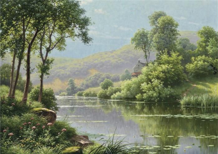 пейзажи художник Charles Edmond Rene-His - 08