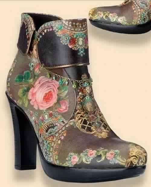 Декупаж на обуви и других кожаных изделиях