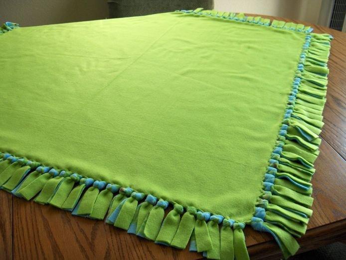 Двойное одеяло без шитья.