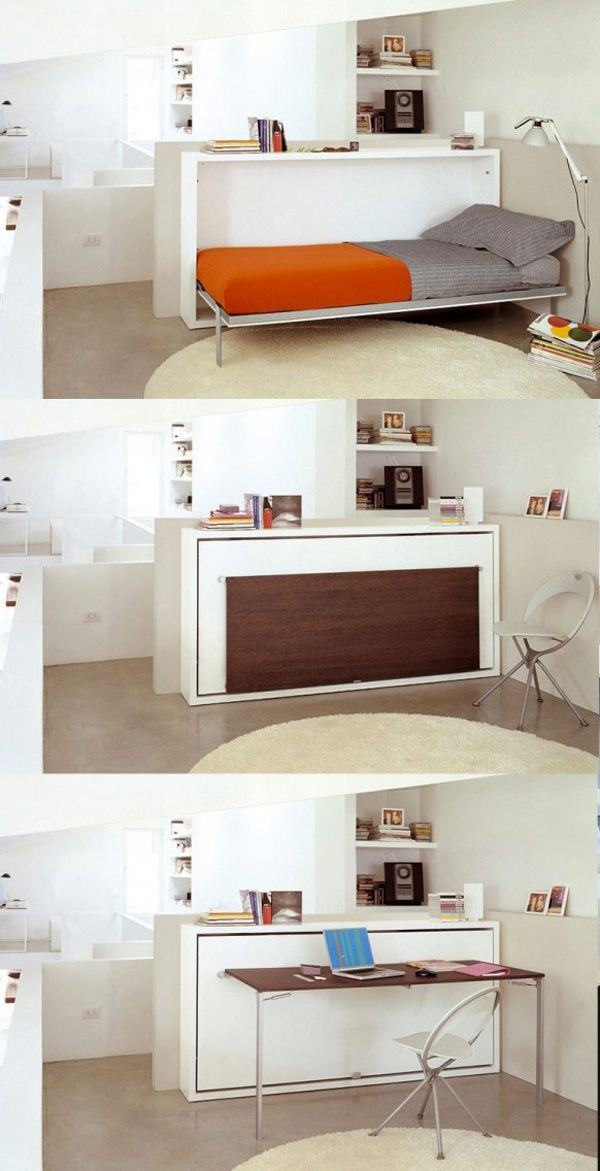 Multifunctional Tiny House Furniture: Hidden Bed  Table