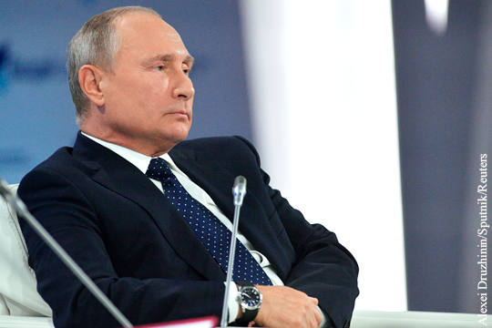 Путин назвал совершаемую США…