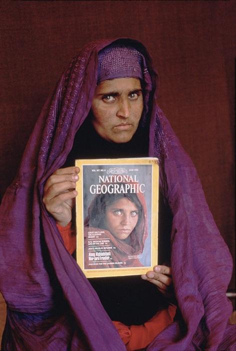 Афганская девушка 17 лет спустя.