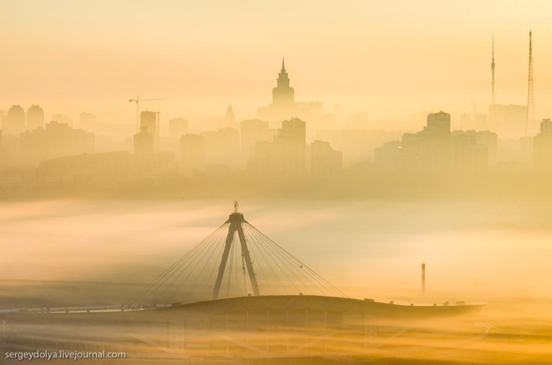 Туманный рассвет в Крылатском
