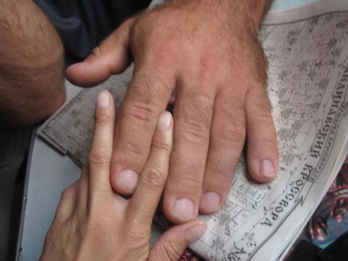 Рука Дениса Цыпленкова, абсолютного чемпиона по армрестлингу среди профессионалов.