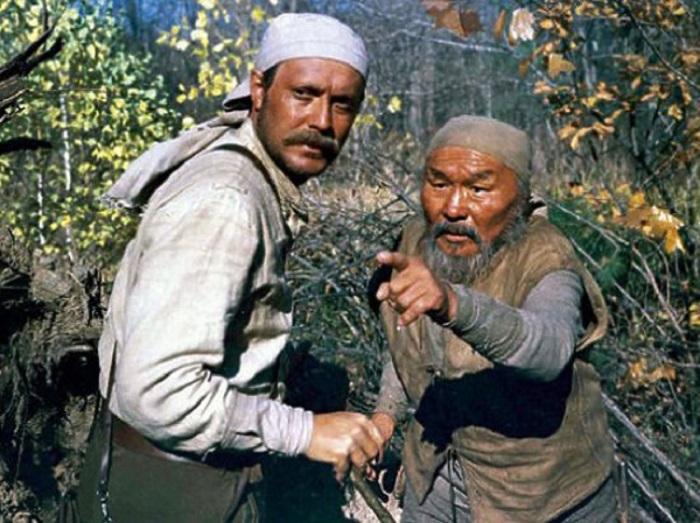 Максим Мунзук в роли Дерсу Узала в фильме Акиры Куросавы, 1975 года.
