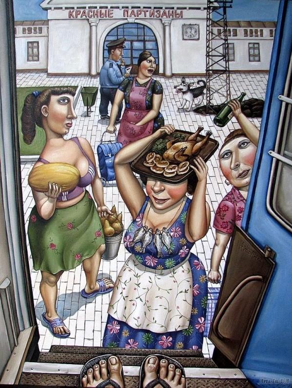 AngelaJerich18 Путешествие в СССР: картины художницы Анжелы Джерих