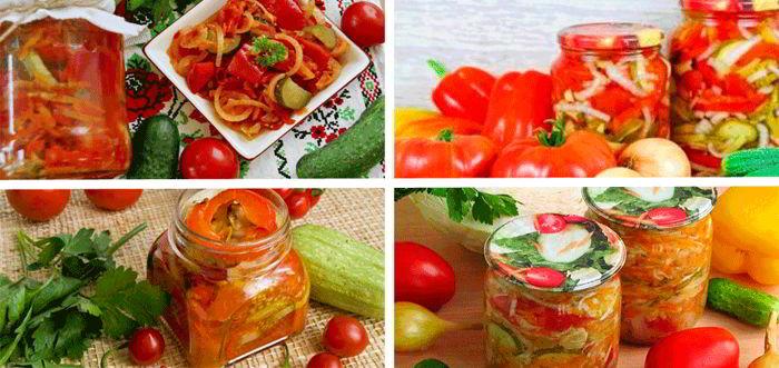 14 овощных салатов на зиму. …